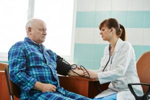 nurse at Blood pressure medic test